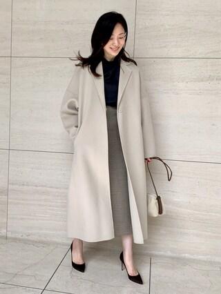 今年のコートは上品なベージュのマキシ丈が大本命!【2020年冬コート】