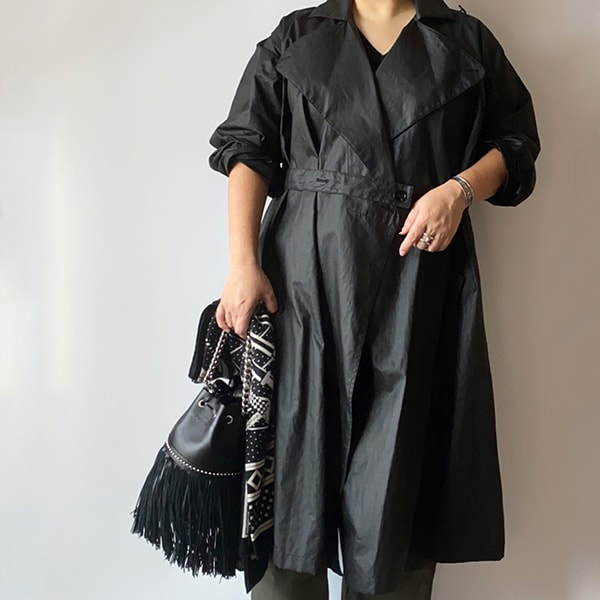 肉付きが変わる40代「トレンチコートで着やせしたい!」【季節の変わり目アウター】