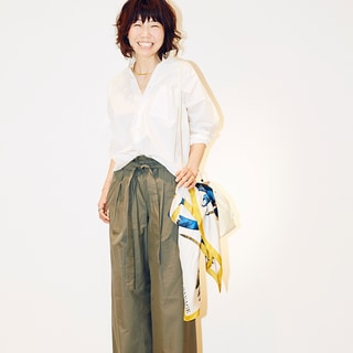 スタイリスト室井由美子さんが指南!大人に似合うワイドパンツの見極め方