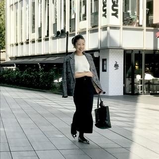 トレンドのチェックジャケットはZARAで by鈴木亜矢子