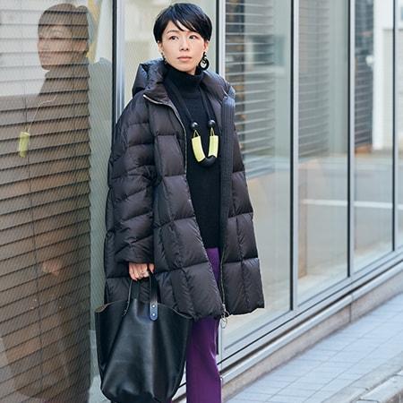 【40代コーデ】寒波でダウンが必須! 太って見えないコーディネート術とは?