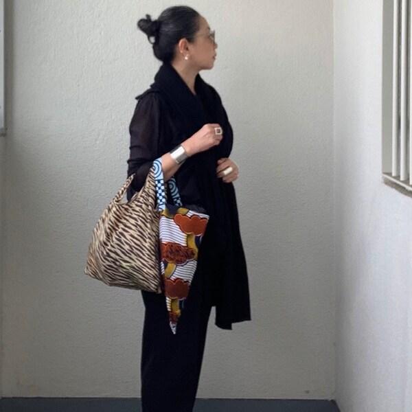 【50代ファッション】傘の「残布」を利用したギフトにもできるエコバッグ