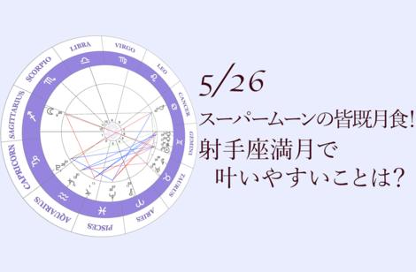 2021.5.26射手座満月(皆既月食)について